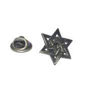 Antique Style Star Of David Lapel Pin Badge Shirt Collar Brooch
