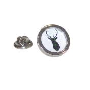 Mac Kenzie Tartan Stag Lapel Pin Badge Gifts For Him