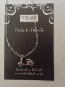 Tibetan Silver Scooter Platinum Plated 46cm Chain Necklace Handmade VERY FINE DETAILS COMES WITH RETAIL PACKAGING CH94