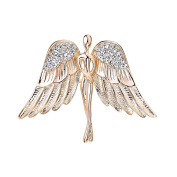 OKAJEWELRY Guardian Angel Brooch - Brooches Pin For Womens Ladies Girls - Broaches Jewel Bouquet Crystal
