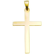 9ct Gold Cross Pendant - 20mm x 35mm - Includes Jewellery Presentation Box