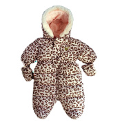 Baby Snowsuit Infant Hooded Romper Winter Jumpsuit Zipper Front, different designs and colours
