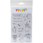 Jane's Doodles Clear Stamps 10cm x 15cm -Coffee Time