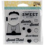 Jillibean Soup Clear Stamps 10cm x 10cm -Sweet Treat
