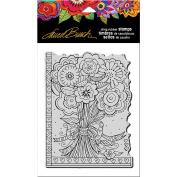 Stampendous Laurel Burch Cling Stamp 20cm x 11cm -Flower Bouquet