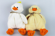 'Set of 2 Duck by Gund Dooley 2 – No. 3673 – Novelty Cuddly Toy for Playing and Collecting and for Duck Lovers – High Quality Branded Stuffed Toy with Scarf