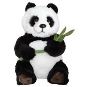 BRUBAKER Panda Bear with Bamboo Leaf 38cm