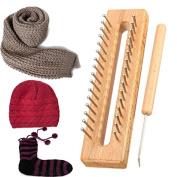 Flying Colourz Wooden Scarf Hat Socks Wool Yarn Knitting Loom DIY Craft Wooden Weaving Tools Kit