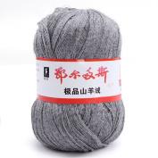 wool knitting yarn - ERDOS Generic 1 x luxurious Cashmere Reiner Mongolian cashmere wool knitting yarn 50g Dark Grey
