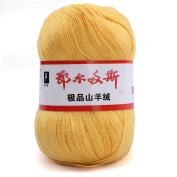 wool knitting yarn - ERDOS Generic 5 x luxurious Cashmere Reiner Mongolian cashmere wool knitting yarn 50g yellow