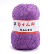 wool knitting yarn - ERDOS Generic 2 x luxurious Cashmere Reiner Mongolian cashmere wool knitting yarn 50g violet