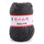 wool knitting yarn - ERDOS Generic 2 x luxurious Cashmere Reiner Mongolian cashmere wool knitting yarn 50g smoke grey