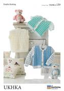 UKHKA Baby Cardigans & Waistcoats Knitting Pattern No 139 DK - each