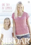 Sirdar Knitting Pattern Book One Day In Summer 482 DK by Sirdar