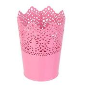 W.Air Metal Crown Flower Pot Lace Hollowpot - Pink