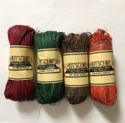 Nutscene Natural Raffia - Autumn Mix - 4 assorted hanks of 50gm each