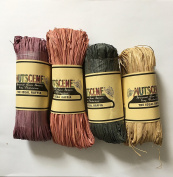 Nutscene Natural Raffia - Pastel Mix - 4 assorted hanks of 50gm each