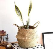 Hot portable basket rattan wicker straw basket wholesale floral hand-woven baskets