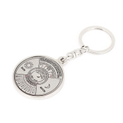 10cm Long 50 Year Calendar Design Keychain Flat Split Ring