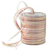 Prasent 50 m Rayon Raffia Spool Ribbon, White / Beige/ Multi-Colour