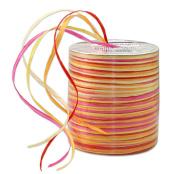 Prasent 50 m Rayon Raffia Spool Ribbon, Yellow/ Multi-Colour