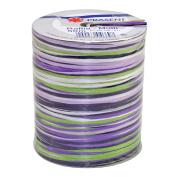 Prasent 50 m Rayon Raffia Spool Ribbon, Purple/ Green/ Multi-Colour