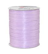 Prasent 100 m Rayon Raffia Spool Ribbon, Light Purple/ Rayon