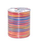 Prasent 50 m Rayon Raffia Spool Ribbon, Red/ Multi-Colour