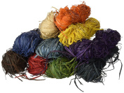 Creation Station 500 g 10 x 50 g Raffia , 10 Assorted Colours