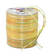 Prasent 50 m Rayon Raffia Spool Ribbon, Yellow/ Green/ Multi-Colour