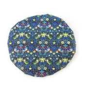 Sophisticated Liberty Fabric Shower Cap With Satin Detailing Mitsi Design Strawberry Thief Blue