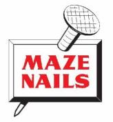 Maze Nails CMH8 6.4cm Cut Masonry Nails, 0.5kg by Maze Nails