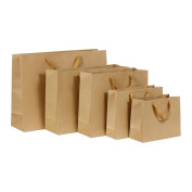 12Pcs/Lot Brown Kraft Paper Gift Bag With Handle Christmas New Year Shopping Package Bags, Cross Version, 32 x 28 x 11CM