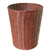 Bamboo rattan simple trash can, creative living room bedroom hand-woven trash can