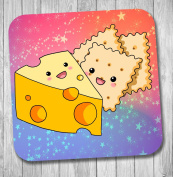 Cheese And Crackers Coaster - Birthday Gift / Stocking Filler