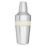 Protege Cocktail Shaker, Mother of Pearl Inlay Design, Stainless Steel