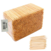 ADIASEN 1000pcs Natural Bamboo Party Cocktail Sticks Toothpicks Hotel household