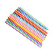 100x Milopon Straws Cocktail Drinking Straws Plastic Straws Party Supplies Mixed Colour
