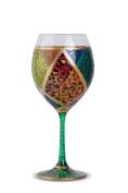 Zees Inc Pocket Bottles Hp5006 Handpainted Wine Glasses, Multicolor