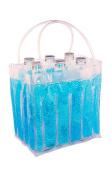 Zees Inc Pocket Bottles Cs8101 Beaded Freezable Wine Tote, Turquoise