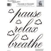 RoomMates Pause, Relax, Breathe Peel and Stick Wall Decals, Single Sheet