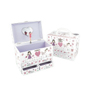 Glittered Fairy Blossom Jewellery Box With Beaded Handle and Fairy Shimmer.
