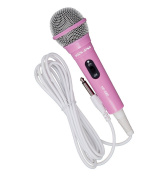 Pink Vocal-Star MP-408p Uni Directional Karaoke Vocal Microphone ( Ideal For Karaoke Singing ) With Gift Box