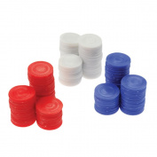 Plastic White Poker Chips Card Game