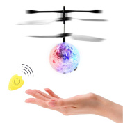 ThinkMax RC Flying Ball with Remote Control, RC Infrared Induction Helicopter Ball, Built-in Shinning Colour Changing LED Lights Present for Kids and Teenager