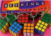 1x puzzle cube keyring toy brain teaser for party bags, pinata, etc.