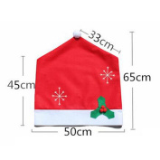 1pcs Christmas Snowflake Chair Cover Christmas Party Dinner Decor