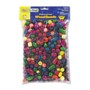 Wood Bead Classroom Pack, 1 lbs., Assorted Colors/Sizes