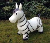 Zebra Hopping animal Hopper Bouncy ass in white
