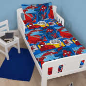 Marvel Comics Ultimate Spiderman Webhead Junior Cot Bed Duvet Toddler Baby Quilt Cover Set Pillowcase Bedding